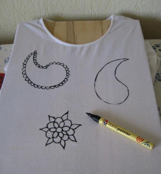 Эксклюзивная одежда при помощи росписи по ткани3