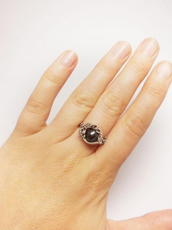 Серебряные кольца с жемчугом 2