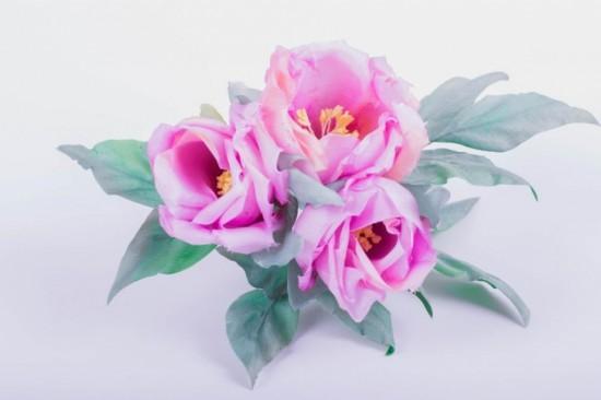 Цветы из ткани в японской технике 4